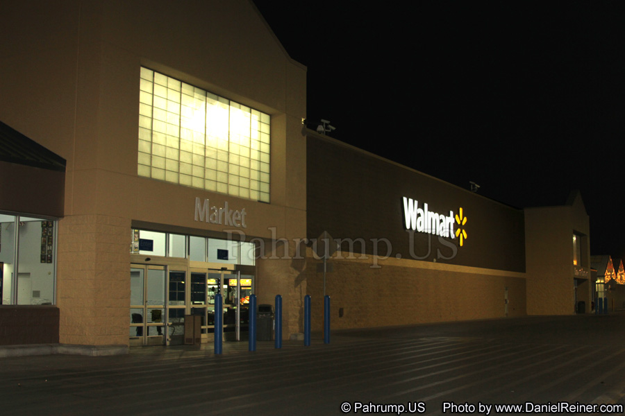 Image of Pahrump Walmart at Night Time