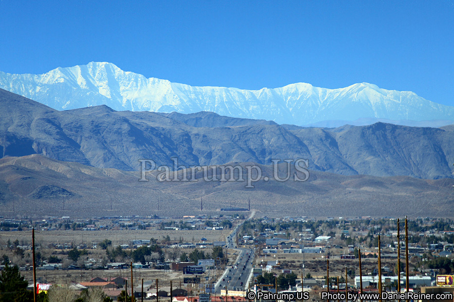 Panamint Mountains view from Pahrump